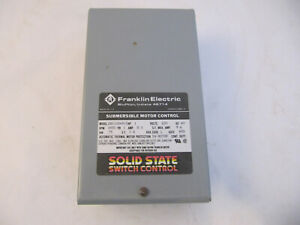 Franklin Electric Submersible Motor Control Box 1 Hp 230v 8a 1p Solid State