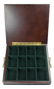 Bombay Company Vintage Wooden Tea Chest W 12 Compartments 12 1 4 X 11