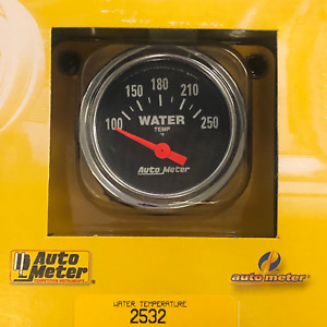 Water Temp Electric Gauge Chrome 100 250 F Mechanical 2 Diameter Black Face