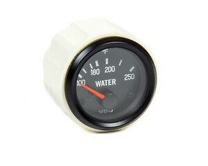 Water Temp Gauge Cockpit 100 250 F Electric Short Sweep 2 1 16 Dia Black Fac