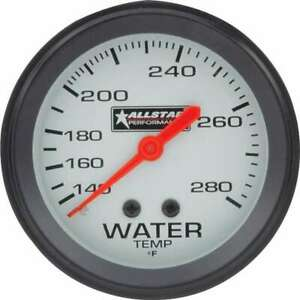 Water Temp Gauge 140 280 F Mechanical Analog 2 5 8 Diameter Silver Face
