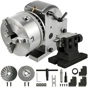Dividing Head Bs 1 6 3 Jaw Chuck Tailstock For Cnc Milling Machine Precision