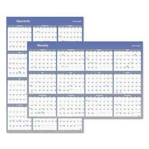 At a glance Vertical horizontal Erasable Wall Planner 32 X 48 038576365100