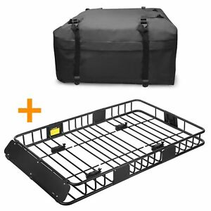64 Rooftop Roof Rack Cargo Carrier Luggage Basket 15 Cubic Ft Bag For Travel