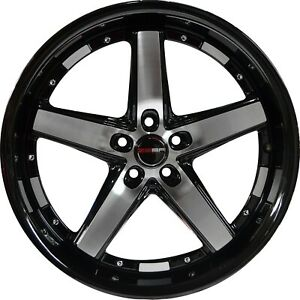 4 G40 Drift Wheels 17 Inch Black Machined Rims Fits Cadillac Deville fwd 00 05