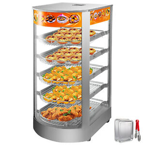 14 Commercial Food Warmer Pizza Warmer 5 tier Pastry Warmer With Magnetic Door