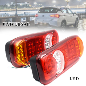 2x 24v Car Led Trailer Lights Stop Reverse Indicator Fog Lamps Truck Boat Part