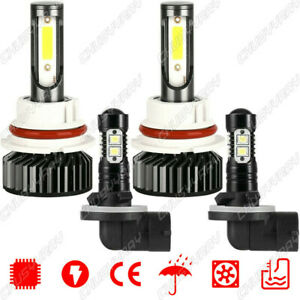4x Combo Led Headlight Hi lo Bulb Fog Light Bulb Kit Fit Dodge Dakota 1998 2000