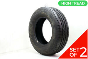 Set Of 2 Used P 255 65r16 Goodyear Eagle Ls 106s 11 11 5 32
