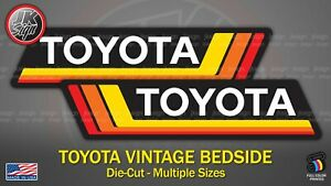 Retro Off Road Bedside Sticker Decal Die Cut Fits On Toyota 4x4