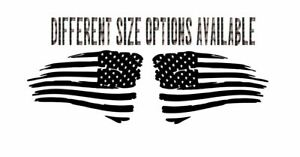 Distressed American Flag Decal Set Sticker Vinyl Jdm Decal For Truck Car Wall