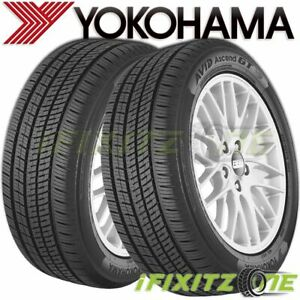 2 Yokohama Avid Ascend Gt 195 65r15 91h Sl All season a s Tires