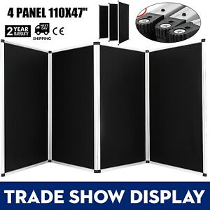110 X 47 Folding 4 Panels Trade Show Display Booth Presentation Exhibit Tabletop