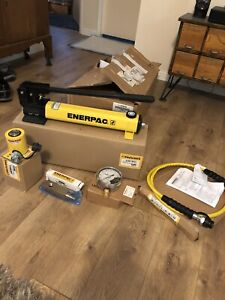 Enerpac Scl101h 10 Ton Hydraulic Set Porta Power P392 Pump Low Height New