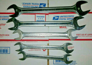 Blue Point By Snap On Wrench Set Heavy Duty Large 5 Pieces 25 32 To 1 1 8