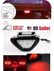 F1 Style Triangle 12 Led Rear Stop Tail 3rd Brake Light Universal Sporty Red