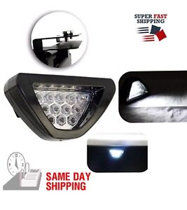 F1 Style Triangle 12 Led Rear Stop Tail 3rd Brake Light Universal Sporty White