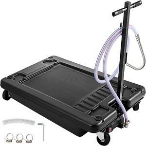 Low Profile Oil Drain Pan 17 Gallon Portable With Electric Pump And 10 Hose