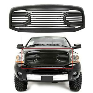 New Front Hood Black Grille Replacement Shell For 2006 09 Dodge Ram 2500 3500