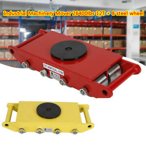 12t Machinery Mover For Transport Heavy Machinery household Appliances 8 Wheels