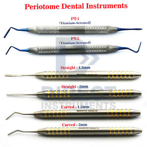 6pcs Periotome Dental Instrument Serrated Periodontal Ligament Knives Extraction
