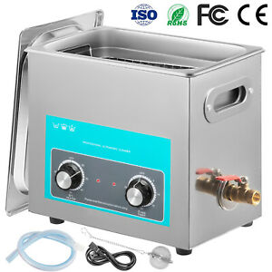 Vevor New 6l Ultrasonic Cleaner Stainless Steel Industry Heated Heater W timer