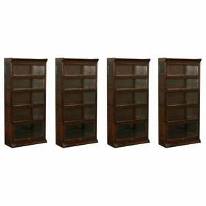Four Circa 1880 Grand Rapids Bookcase Chair Co Stamped Legal Library Bookcases