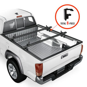 Aluminum Pickup Truck Bed Ladder Racks Adjustable Cargo Utility Rack Fits Tacoma