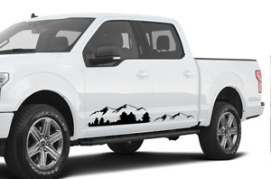 2 Decal Lift Sticker Kit For Ford F 150 Raptor Stripes Side Mountain Winch Wheel