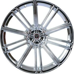 4 Gwg Wheels 20 Inch Staggered Chrome Flow Rims Fits Ford Mustang V6 2015 2018
