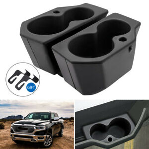 For 2009 2018 Dodge Ram 1500 3500 Door Panel Foam Cup Holder Insert Set