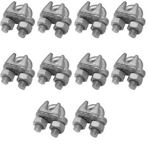 10 Pc Marine Wire Rope Cable Clips Cable Clamp 3 8 Drop Forged Galvanized