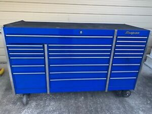 Snap On Snapon Snap On Krl1003 Royal Blue Tool Cabinet Nice With Rubber Top Mat