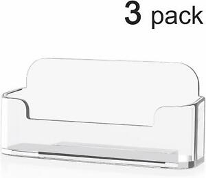 3 Acrylic Business Card Holder For Desk Business Card Display3 8 X 1 9 X 1 4 In