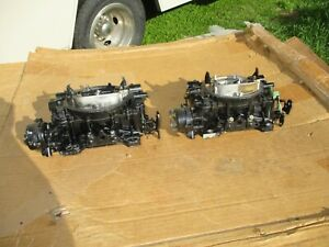 2x4 Carter 9780s Afb Carburetors Carbs 750 Cfm Marine Boat Dual Quad Tunnel Ram