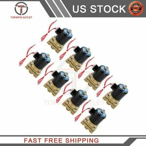 Air Suspension Valves Eight 1 2 npt Electric Solenoid 250psi For Train Horn Fast