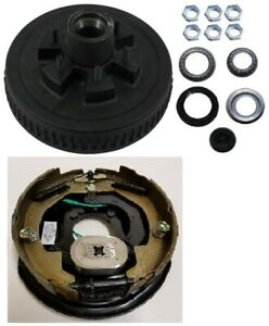 Electric Trailer Brake 10 Rh Self Adjusting Backing Plate Drum Kit 6 Lug On 5 5