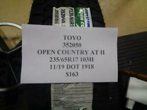 1 New Toyo Open Country At Ii 235 65 17 107s Xl Tire Wo Label 352050 Q9