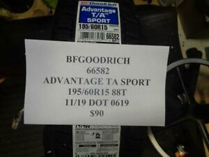 1 New Bfgoodrich Advantage Ta Sport 195 60 15 88t Tire W Label 66582 Q9