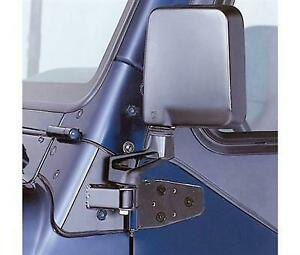 Mirror Movers In Black For 1987 1995 Jeep Wrangler Yj With Half Doors Full Doo