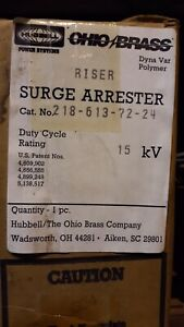 Hubbell Power Systems Ohio Brass 218 613 72 24 15kv Surge Arrester