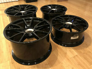 19 Oem Porsche 911 997 Gt3 Center Lock Wheels Black 997 2 2010 2011 Gts Black