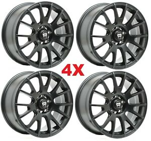 18 Graphite Wheels Rims Motegi Jsport Accord Civic Crv Pilot