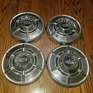 1965 Ford Falcon Hubcaps Dog Dish Set Of 4