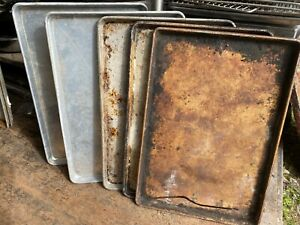 Lot Of 300 Full Size Bakery Baking Cookie Commercial Aluminum Sheet Pans Dirty