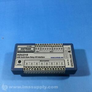 Ontrak Control Systems Adu218 Usb Solid state Relay I o Interface Usip