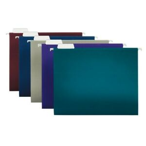 Office Depot Brand 2 tone Hanging File Folders 1 5 Cut Letter Size 25 pk