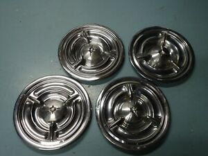 Set 1a 4 Factory Oem Gm Wheel Rim Hub Cap Hubcap 1957 Oldsmobile 88 98 Fiesta