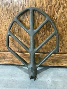 Vtg Hobart Mixer Cast Iron 10 Qt Beater Flat Paddle C10 Replacement Part 9 5