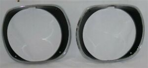 New 1972 74 Cuda Headlight Bezels